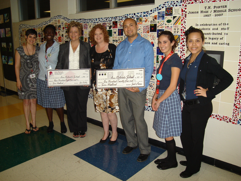$986.25 donated to Ann Richards School on behalf of Sam Woollard
