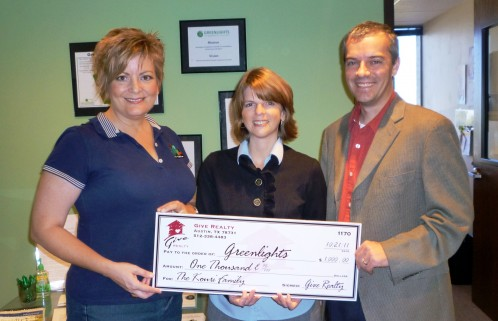 $1,000.00 Donated to Greenlights on behalf of the Kouri Family
