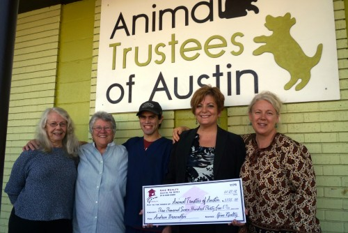 $7,582.50 Donated to Animal Trustees of Austin and LifeWorks on Behalf of Andrea Braendlin