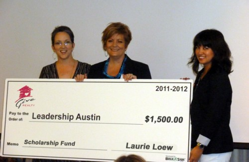 Leadership Austin receives $1500 Scholarship Grant from the Give Realty Social Entreprenuer Scholarship Fund
