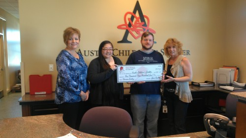 $1,305.00 Donated to Austin Children's Shelter on Behalf of Damon Earley and Jenna Hsung