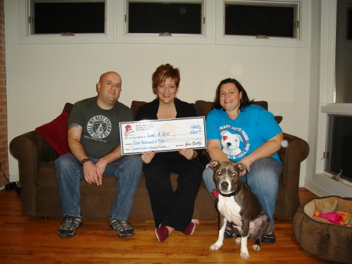 $5,000.00 Donated to Love-A-Bull on Behalf of David Wells & Meghan Turner