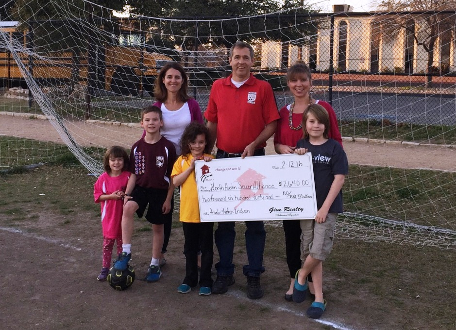 $2,640 Donated to North Austin Soccer Alliance