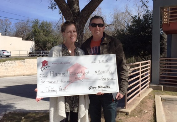 $5,010 Donated to Planned Parenthood of Greater Texas